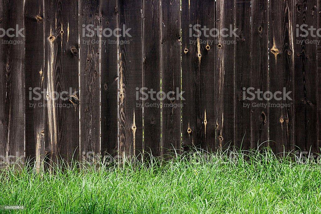 Clásicos de madera valla como un fondo textura de foto de stock libre de derechos