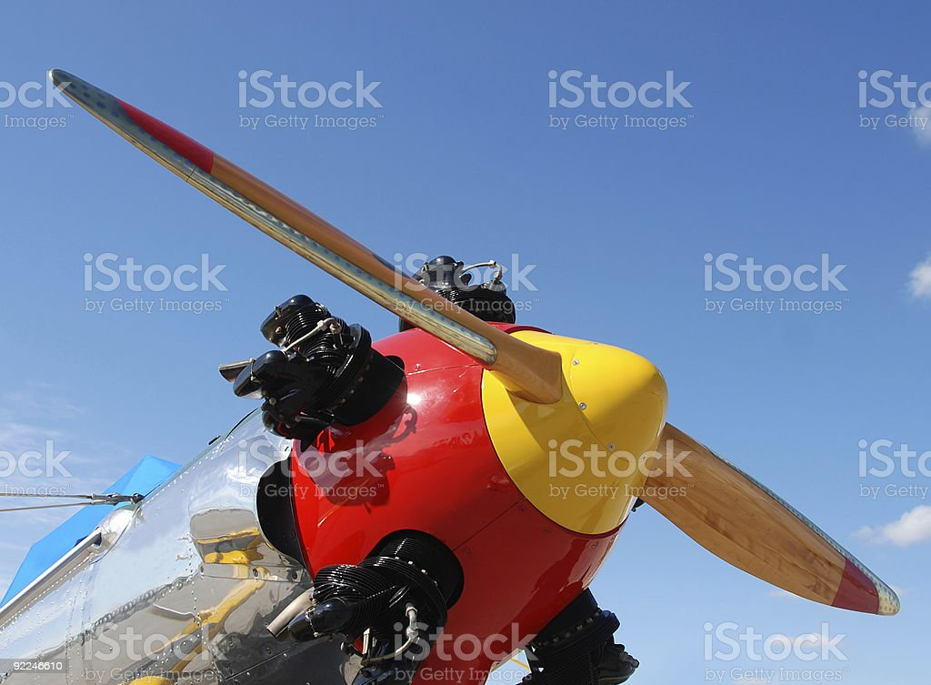 Classic airplane royalty-free stock photo