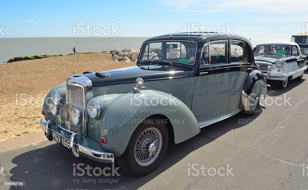 Classic Alvis Grey Lady motor car stock photo