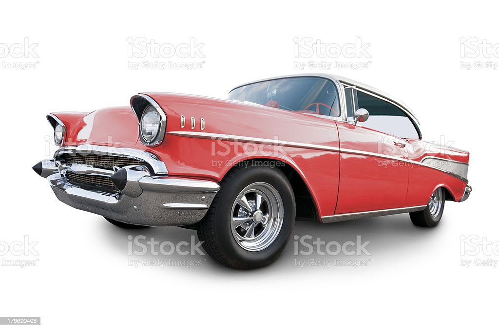 Classic American 1957 Chevy stock photo