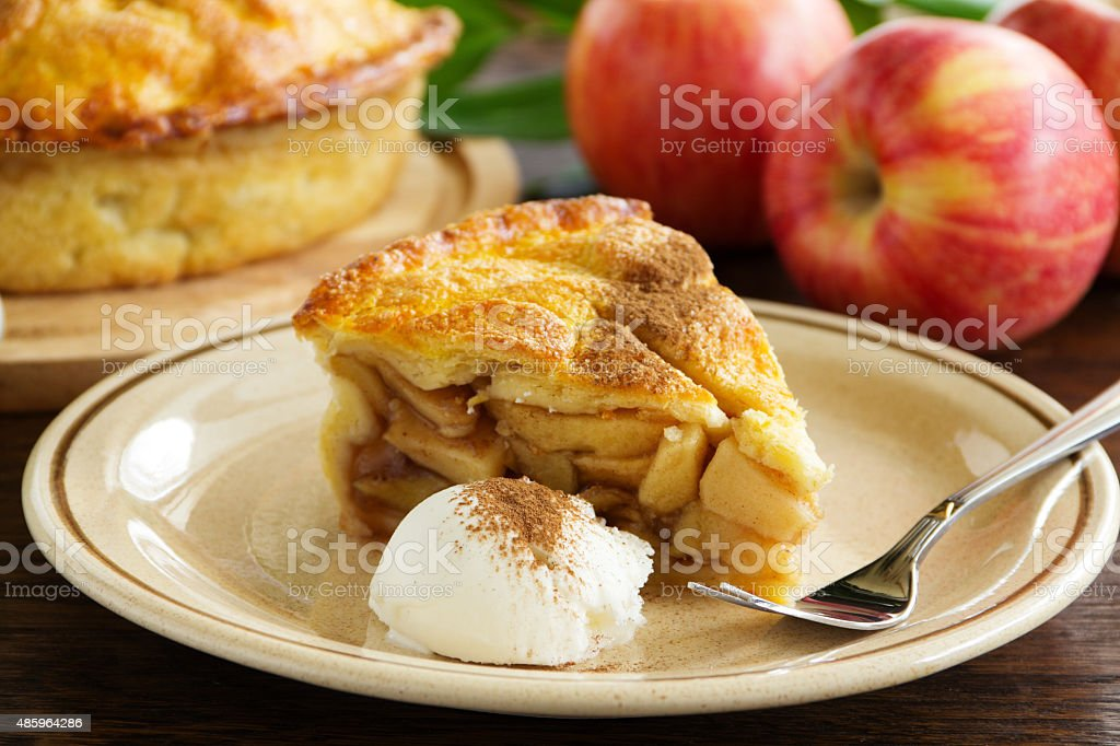 Classic American apple pie. stock photo