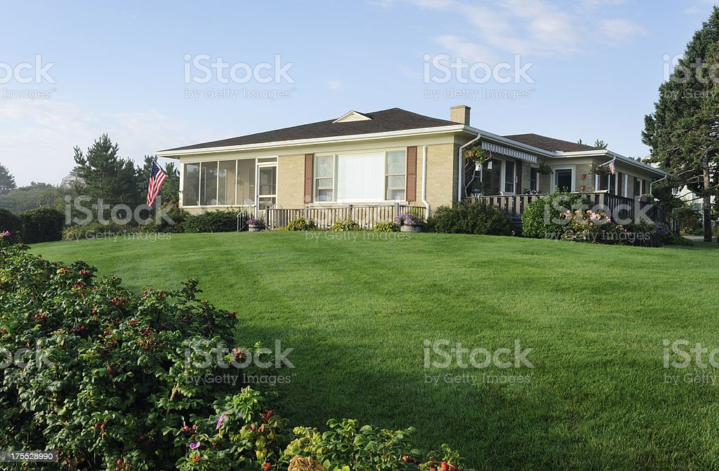 Classic american bungalow stock photo
