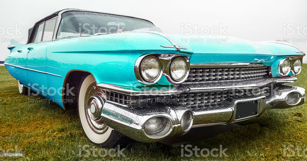 Classic american car stock photo