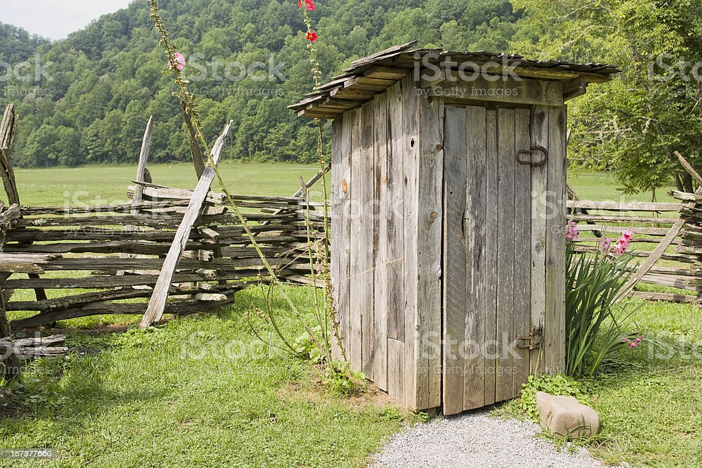 Classic American Outhouse royalty-free stock photo