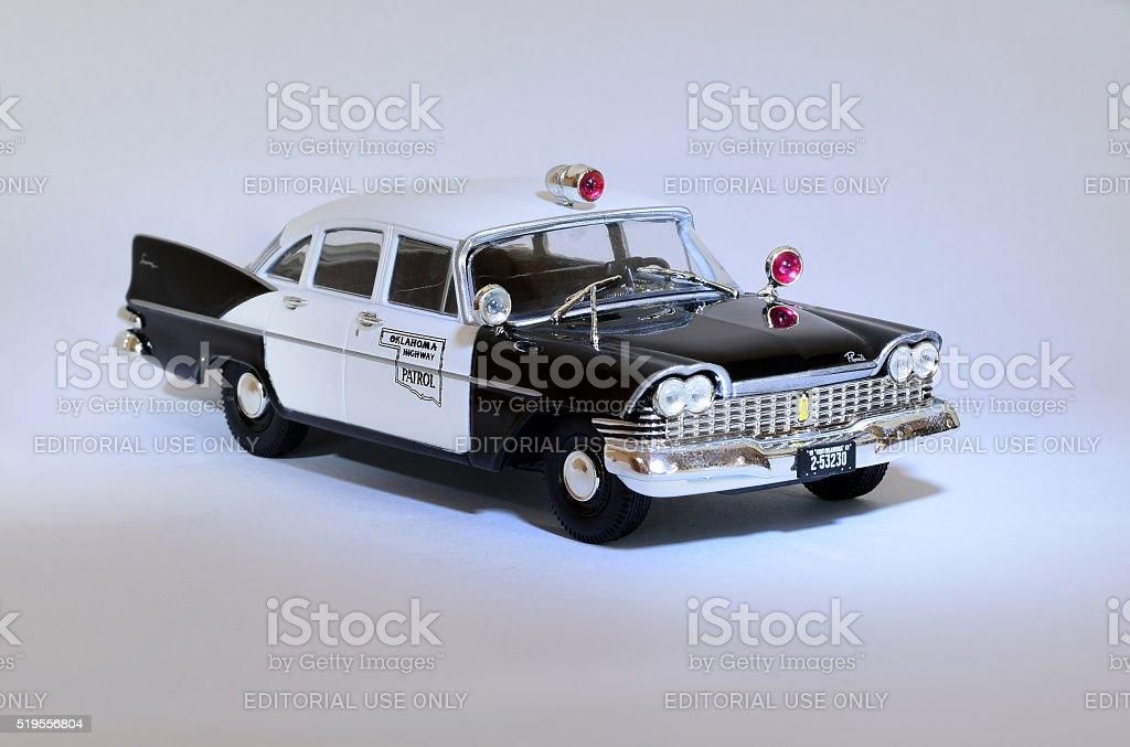 Classic American police car model stock photo