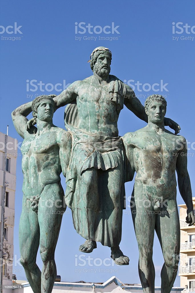 Classic ancient Greek statue royalty-free stock photo