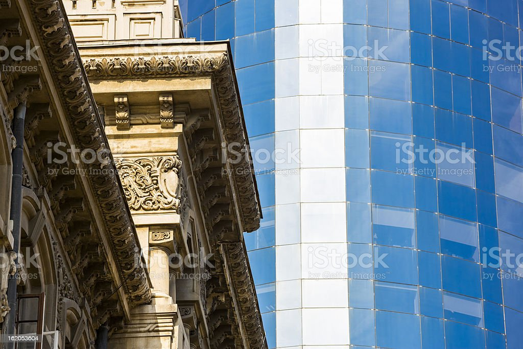 Classic and modern architecture royalty-free stock photo