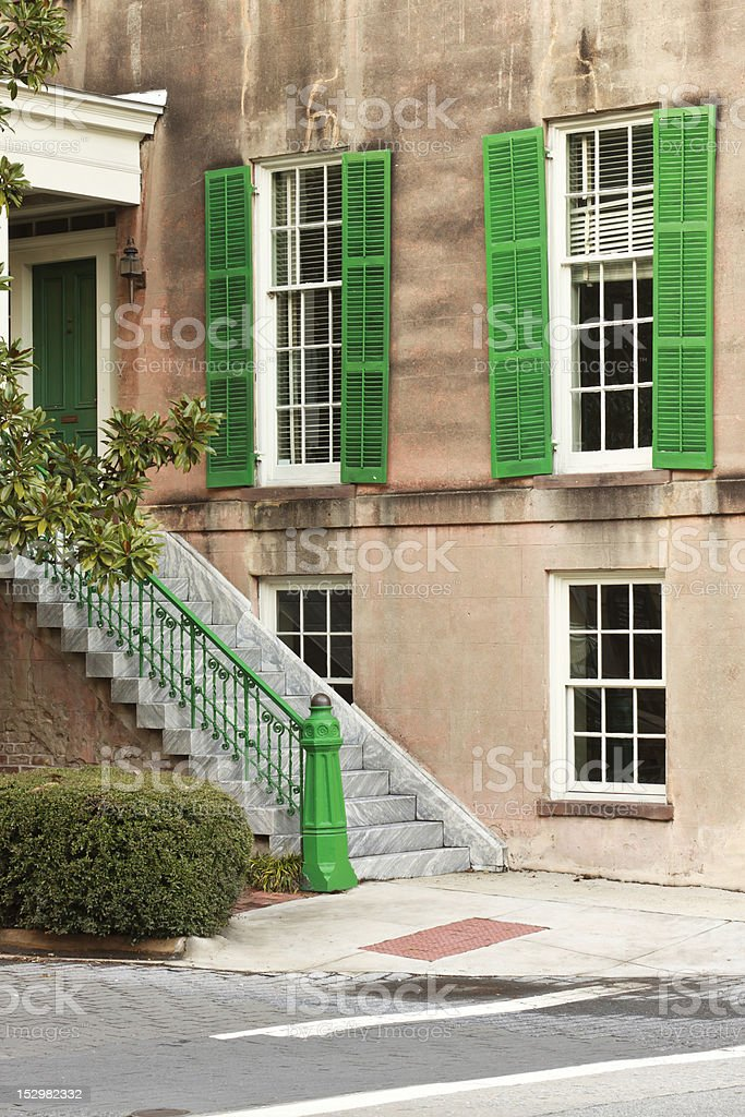 Classic Antebellum Entrance stock photo