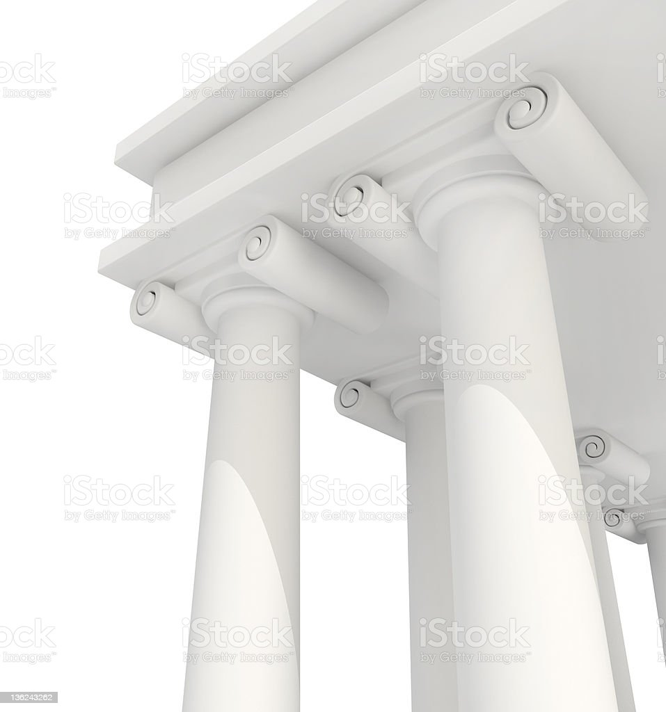 Classic Antique Building 3d royalty-free stock photo