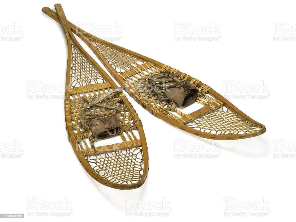 Classic Antique Snow shoes royalty-free stock photo