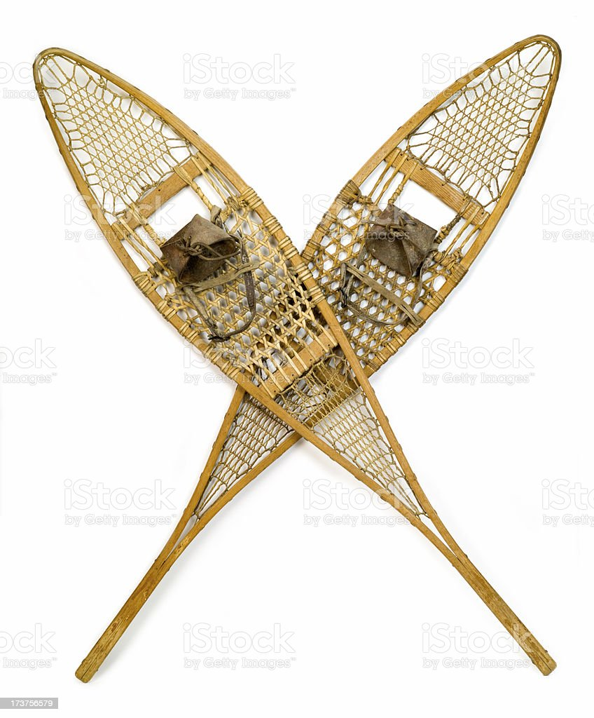 Classic Antique snowshoes royalty-free stock photo