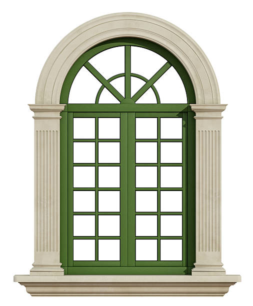 Window frame pictures images and stock photos istock for Window design arch