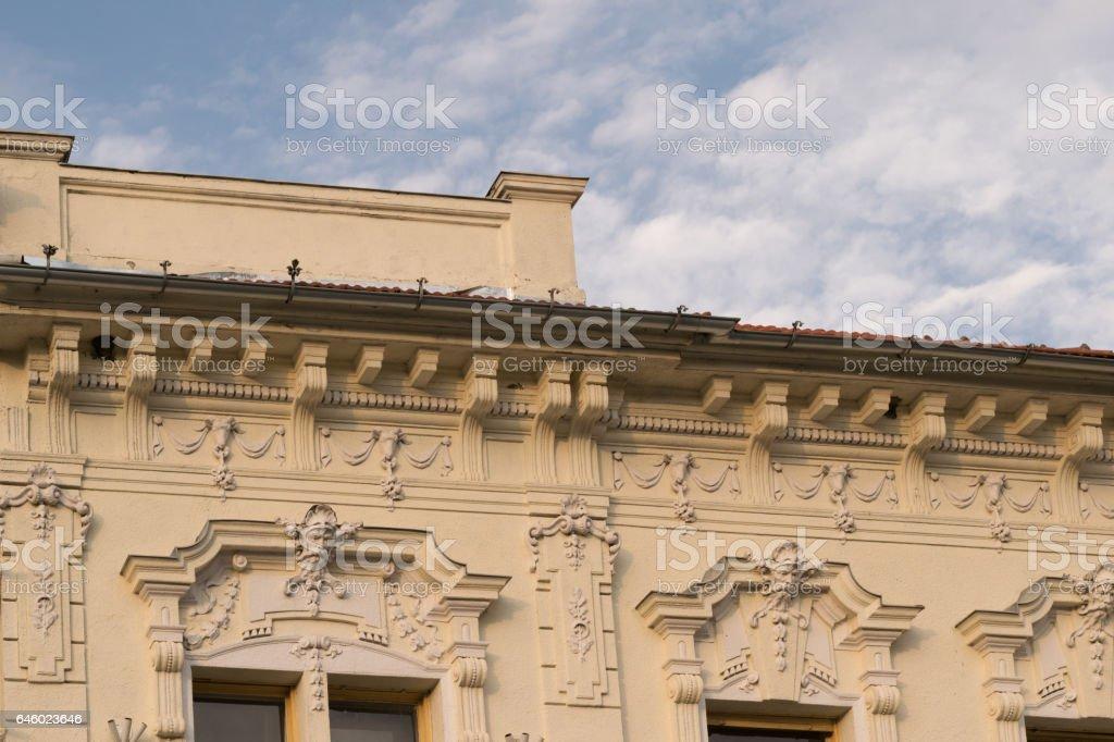 classic architectural style building in Brasov, Romania, Transylvania, Europe stock photo