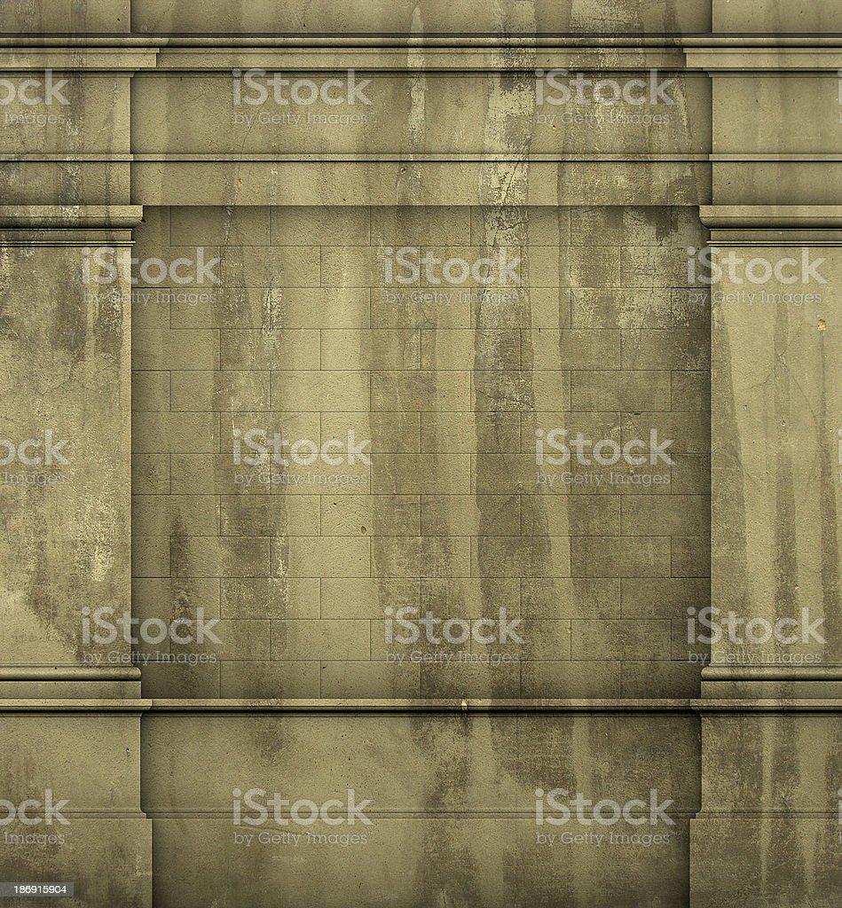 classic architecture Greek Roman wall grunge render royalty-free stock photo