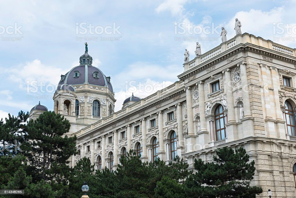 Classic architecture of the Kunsthistorisches Museum in Vienna stock photo