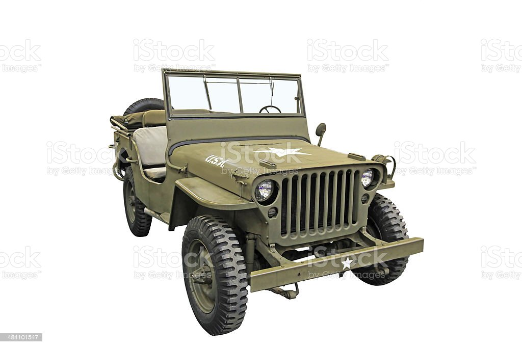 Classic Army Jeep stock photo