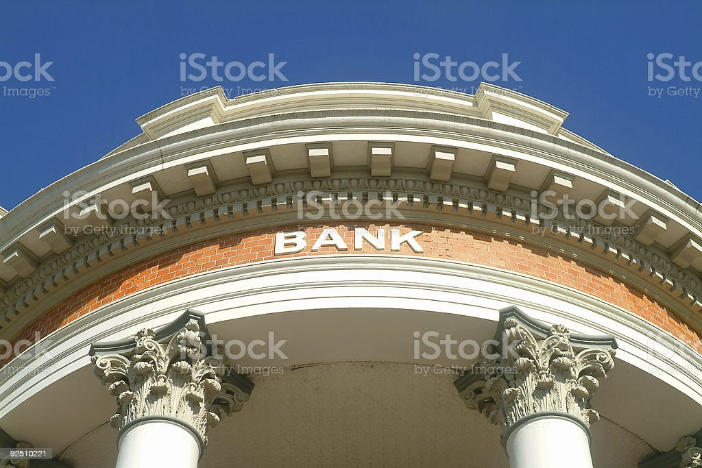 Classic Bank royalty-free stock photo
