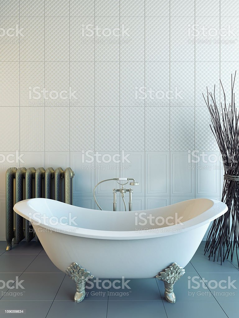 classic bathroom royalty-free stock photo