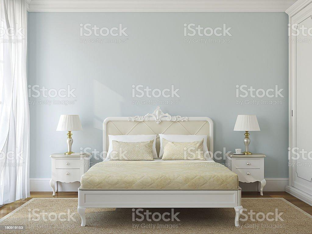 Classic bedroom interior. stock photo