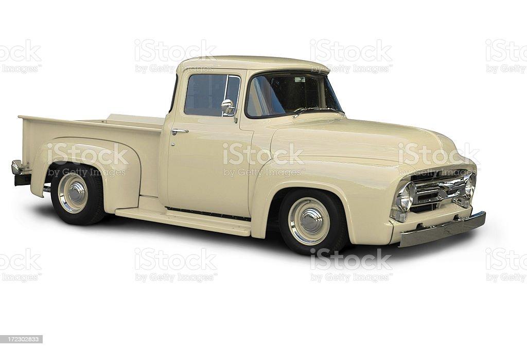 Classic Beige Ford F100 Truck  - 1954 stock photo