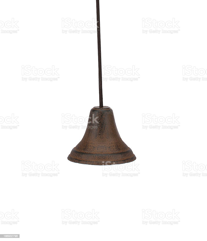 Classic bell on the white royalty-free stock photo