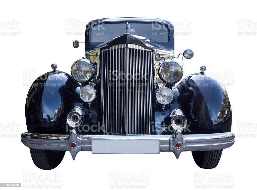 Classic black Packard stock photo