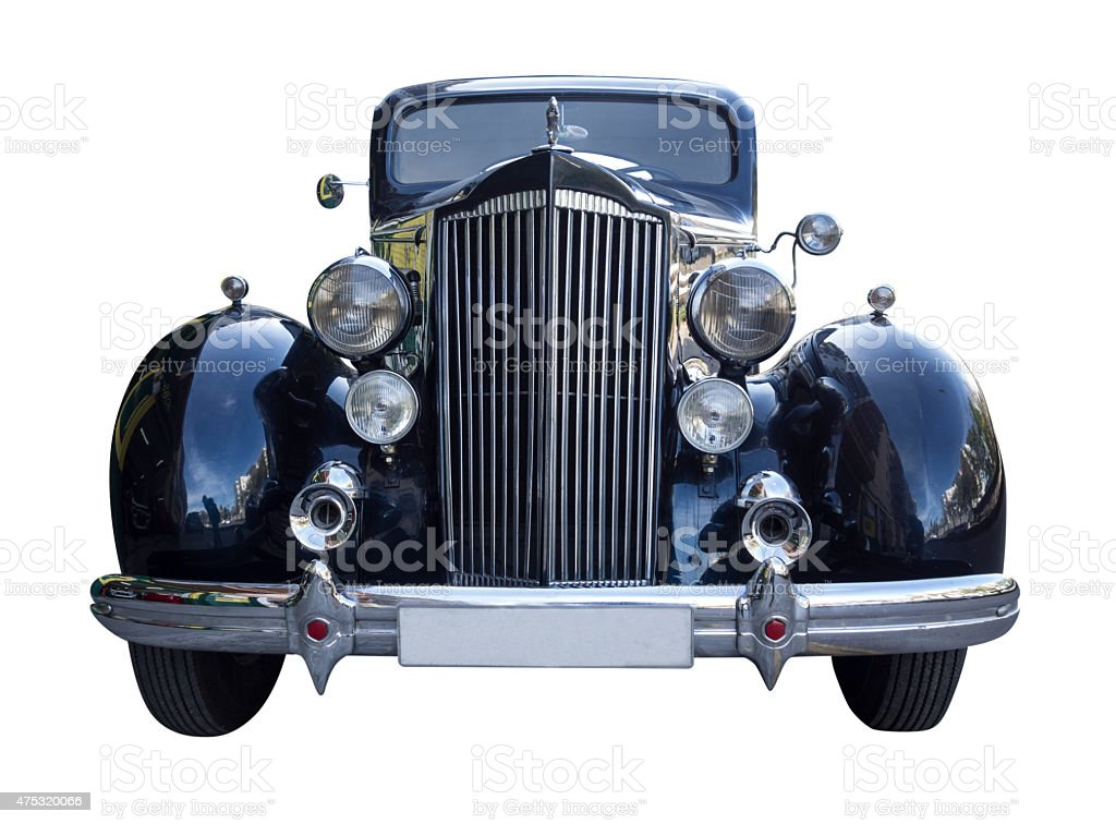 Classic black Packard stock photo