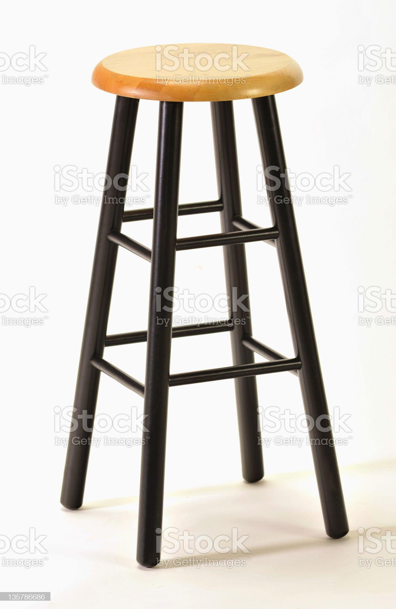 Classic black stool on white royalty-free stock photo