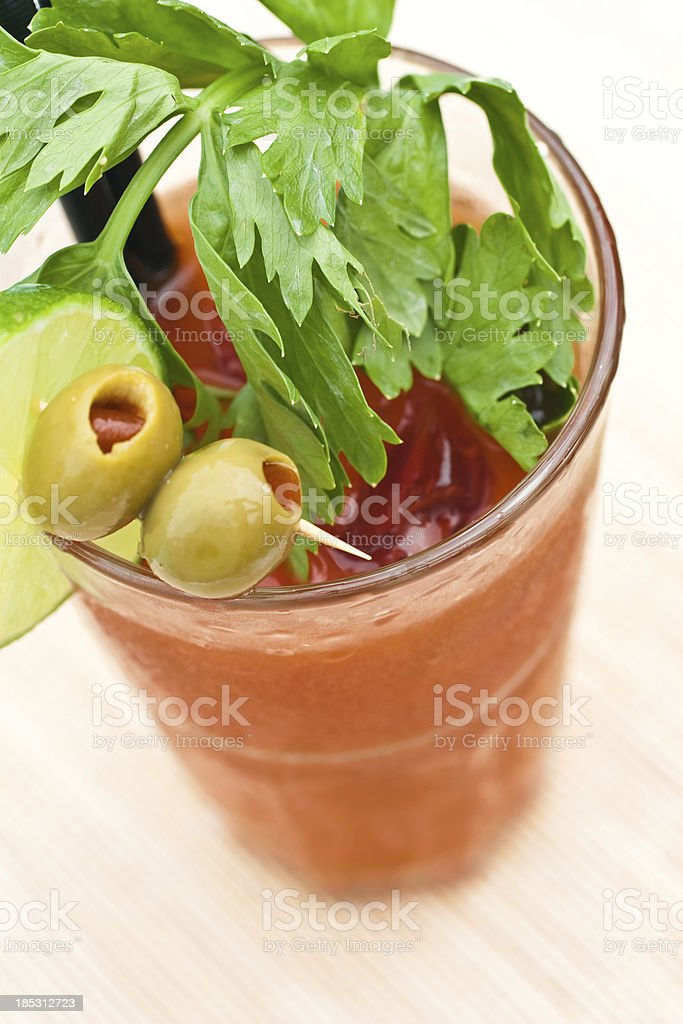 Classic Bloody Mary cocktail  close up stock photo
