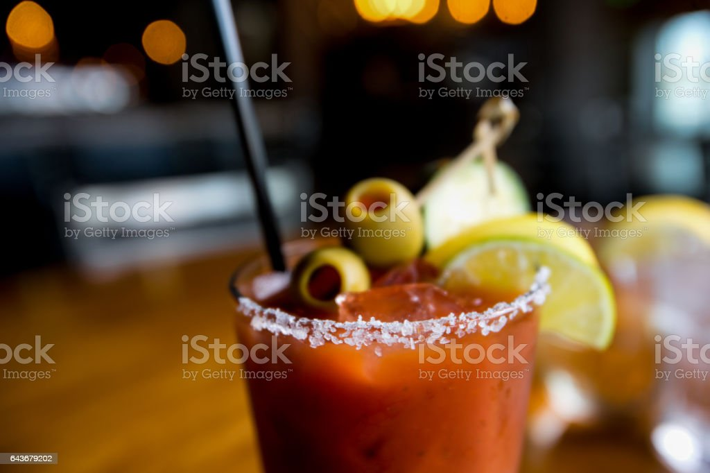 Classic Bloody Mary stock photo