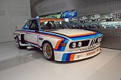 Classic BMW 3.5 CSL in the showroom