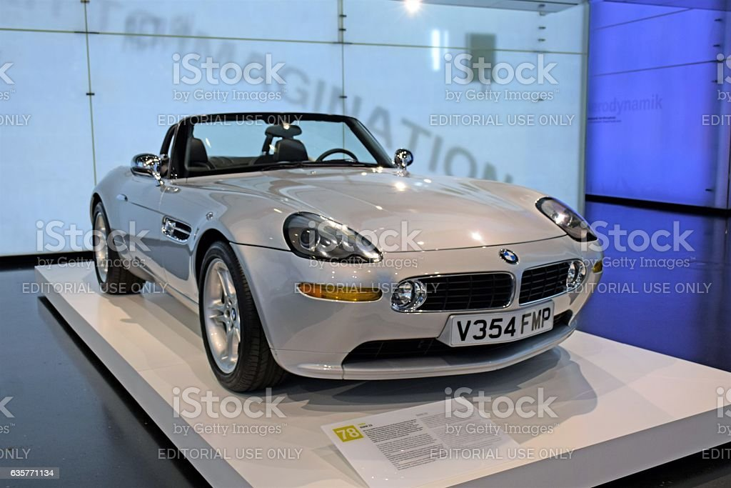 Classic BMW Z8 in the showroom stock photo