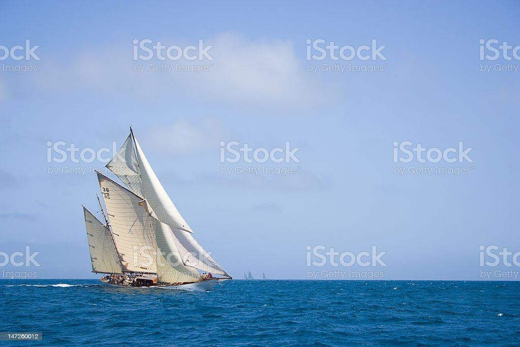 Classic boat. royalty-free stock photo