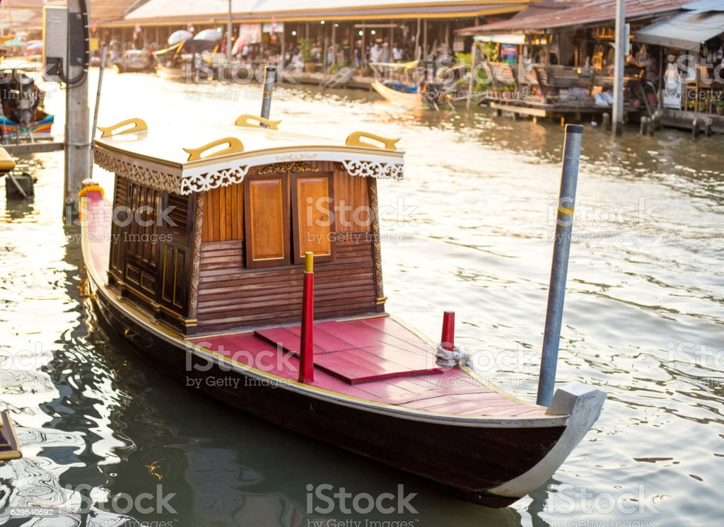 Classic boat stock photo