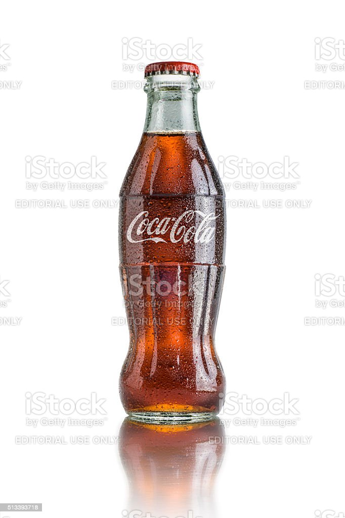 Classic Bottle of Coca Cola stock photo