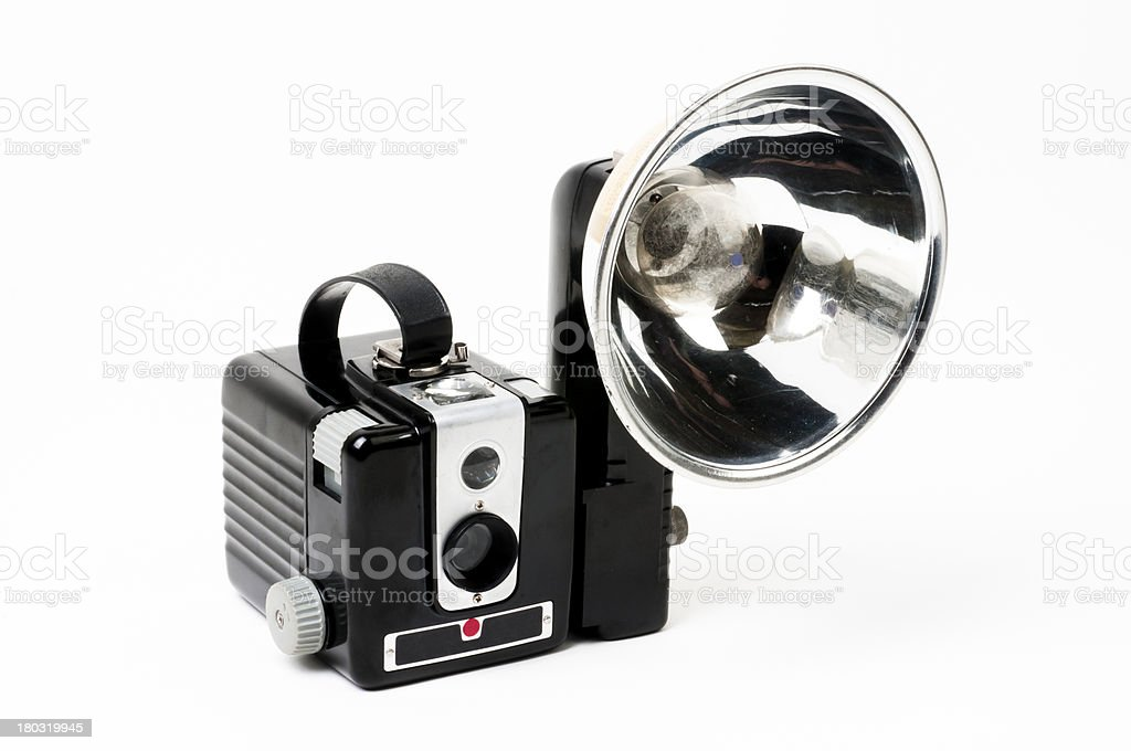Classic Box Camera with Flash royalty-free stock photo