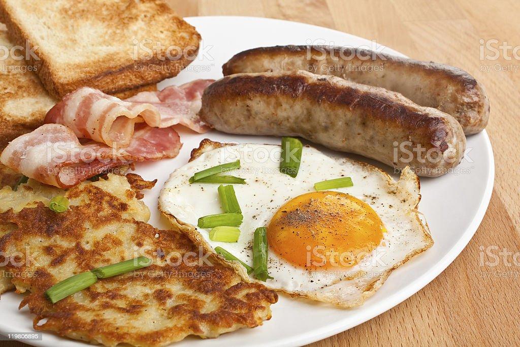 classic breakfast royalty-free stock photo