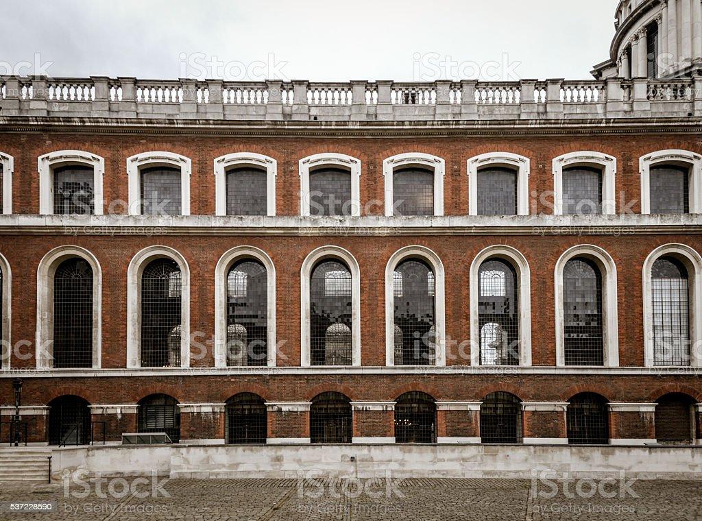 Classic brick building stock photo