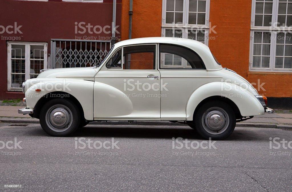 Classic British car on the street stock photo