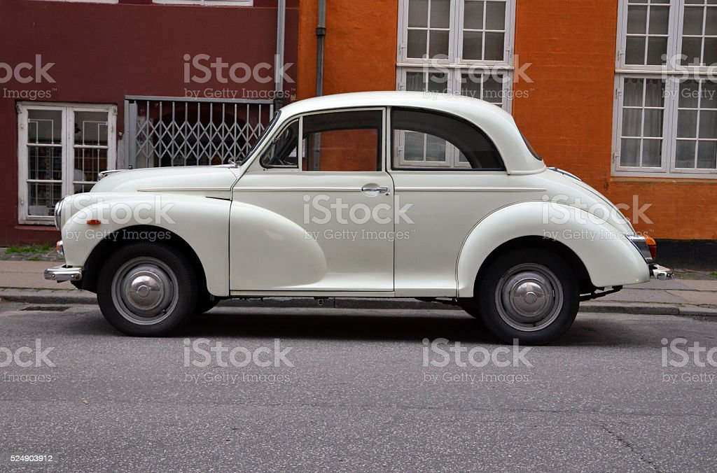 Classic British car on the street stock photo