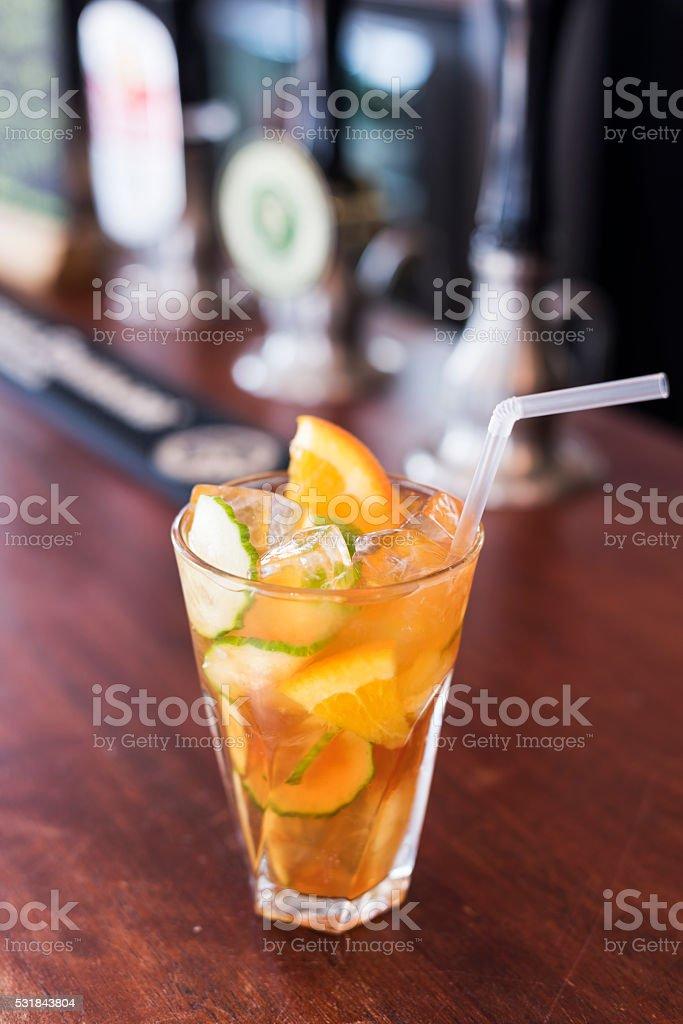 Classic British Summer Cocktail stock photo