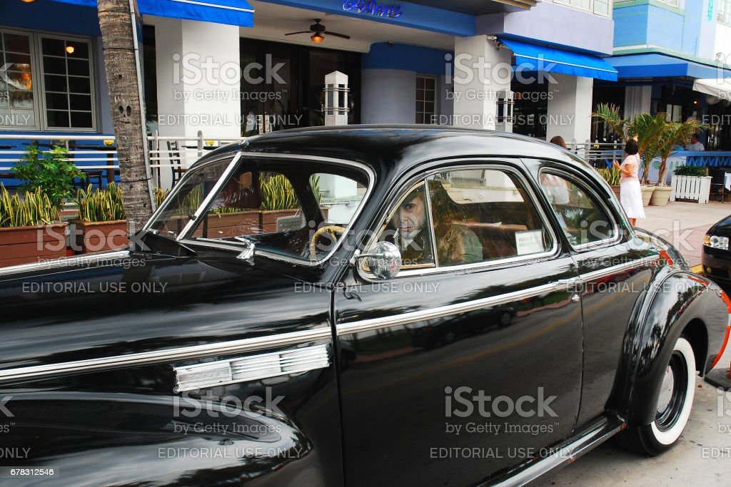 A classic Buick in South Beach stock photo