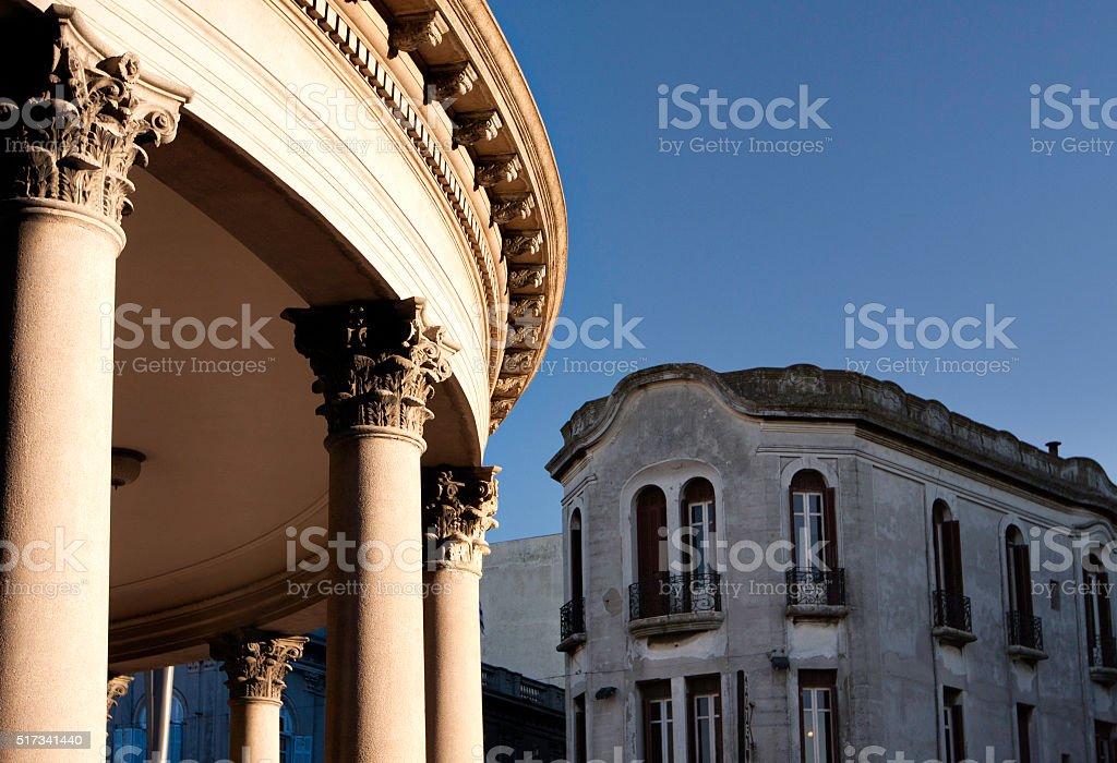 Classic building in Montevideo stock photo