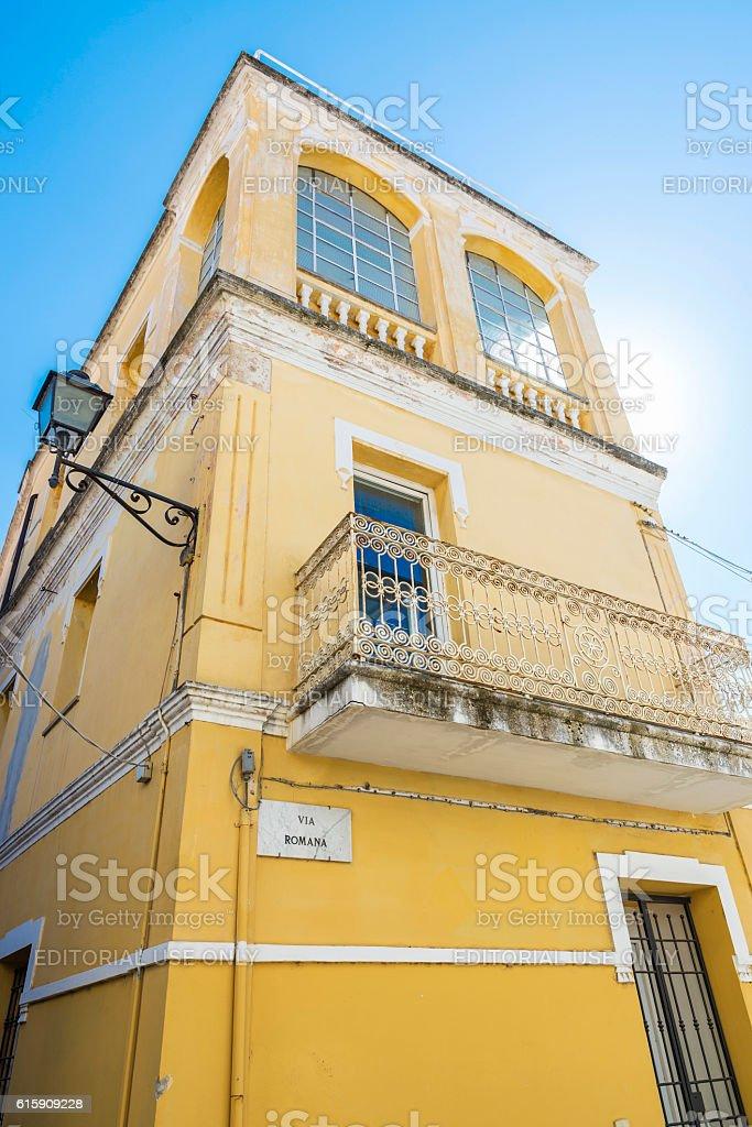 Classic building in Olbia, Sardinia, Italy stock photo