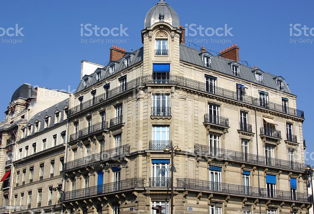 classic Building in Paris royalty-free stock photo