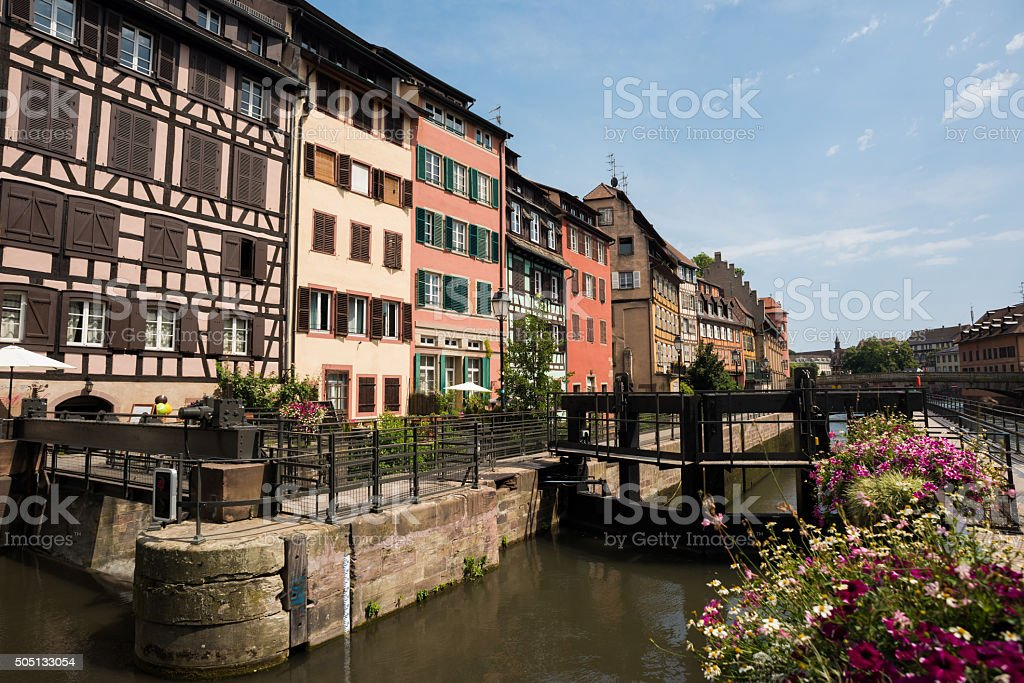 Classic buildings in Strasbourg, France stock photo