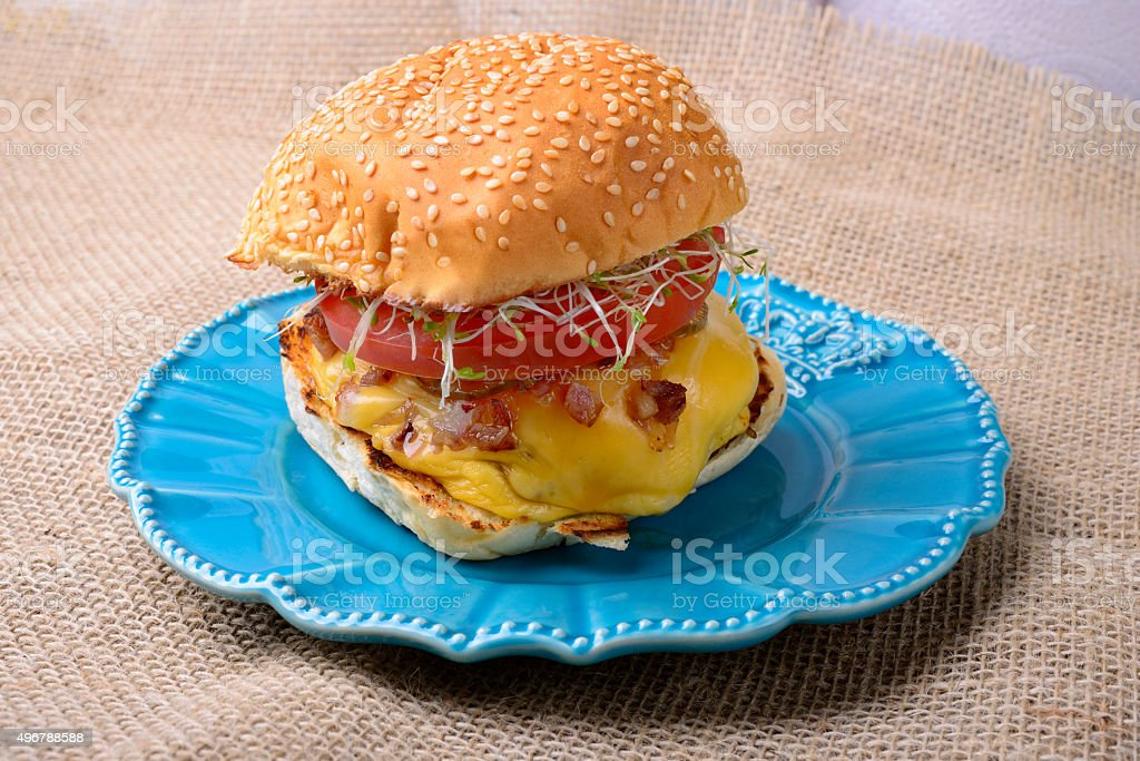 Classic Burger stock photo
