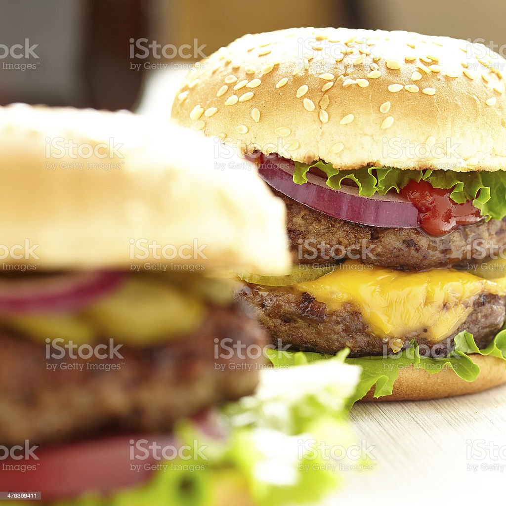 Classic Burgers stock photo