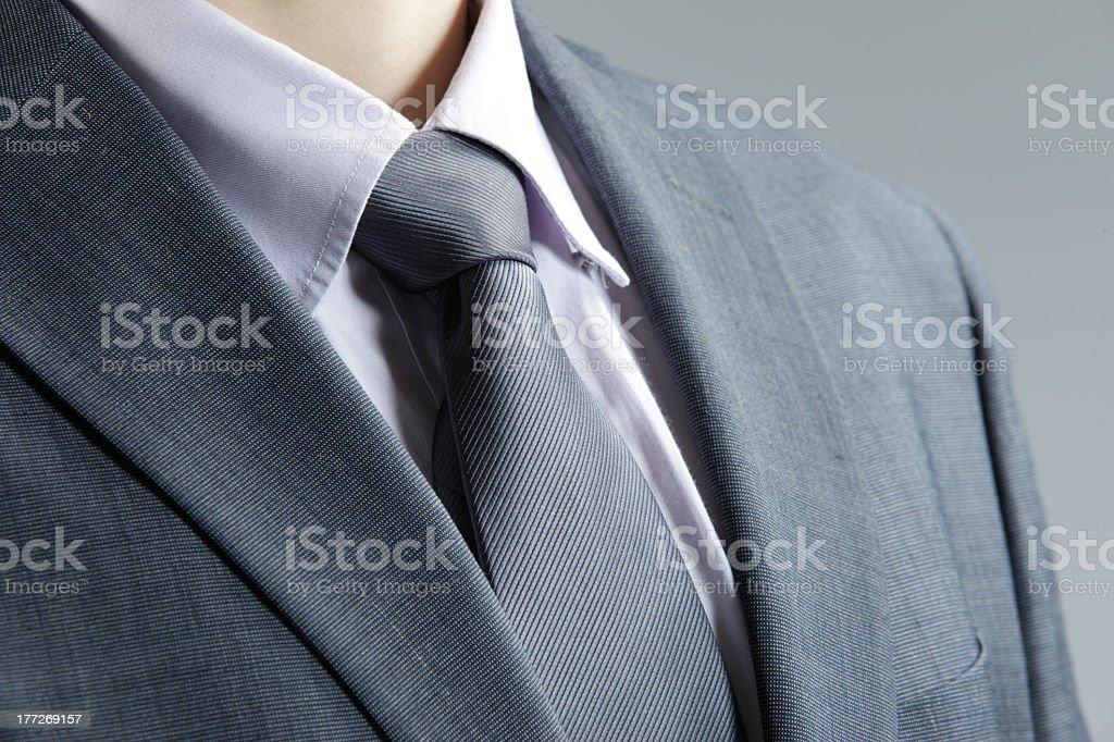 classic business attire with  tie and elegant blazer stock photo