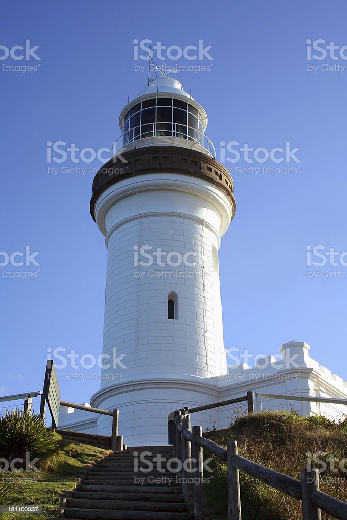 Classic Byron Bay Lighthouse royalty-free stock photo